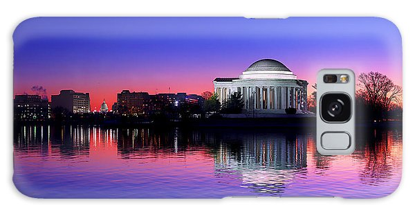 Clear Blue Morning At The Jefferson Memorial Galaxy Case