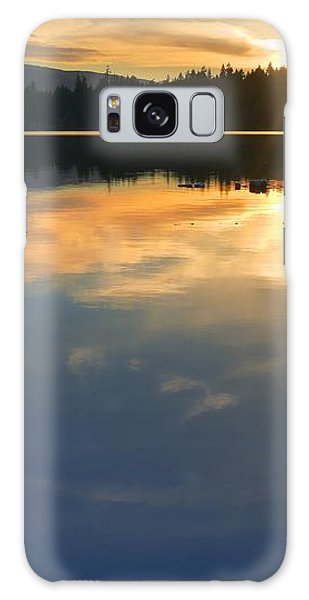 Clear Lake Sunset Galaxy Case by Peter Mooyman