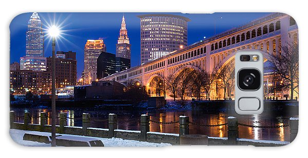 Clear Sky Cleveland Winter Galaxy Case