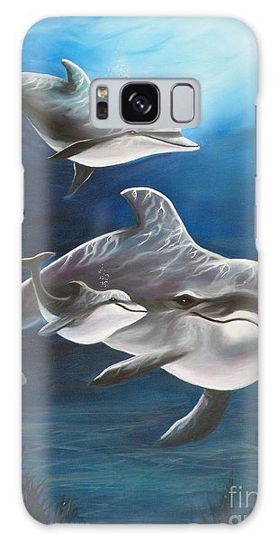 Clearwater Beach Dolphins Galaxy Case