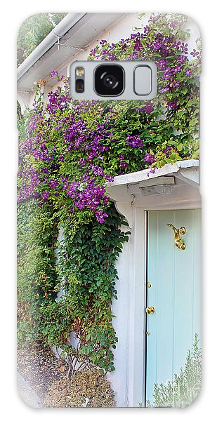 Clematis Around The Door Galaxy Case