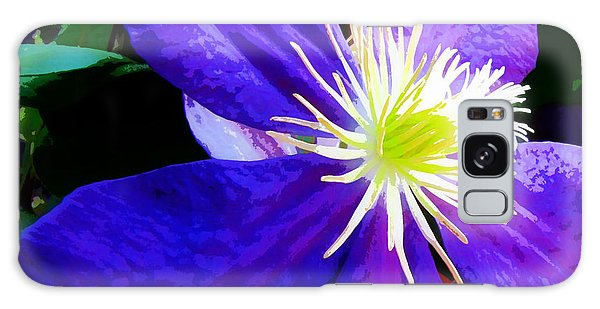 Clematis In Watercolor Galaxy Case