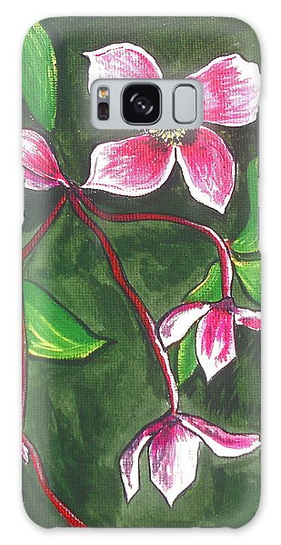 Galaxy Case - Clematis Montana Rubins by Kathy Spall