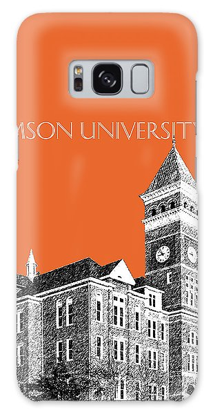 Clemson Galaxy Case - Clemson University - Coral by DB Artist