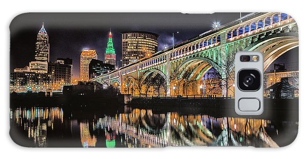 Cleveland Christmas Bridge Galaxy Case