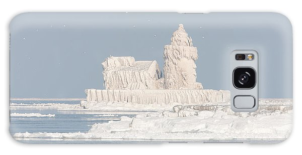 Cleveland Harbor West Pierhead Light II Galaxy Case by Clarence Holmes