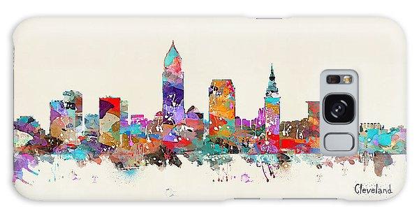 Cleveland Ohio Skyline Galaxy Case by Bri B