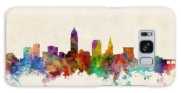 Poster Galaxy Case - Cleveland Ohio Skyline by Michael Tompsett