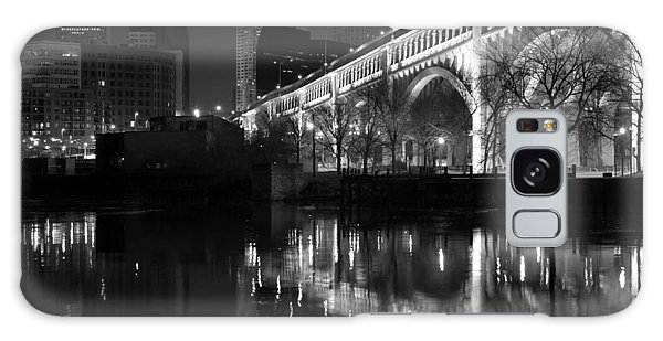 Cleveland Reflections In Black And White Galaxy Case