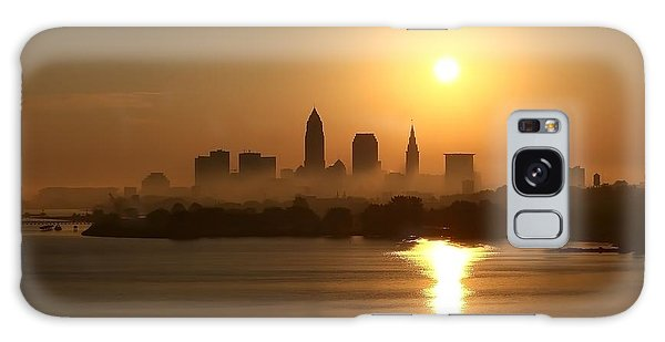 Cleveland Skyline At Sunrise Galaxy Case