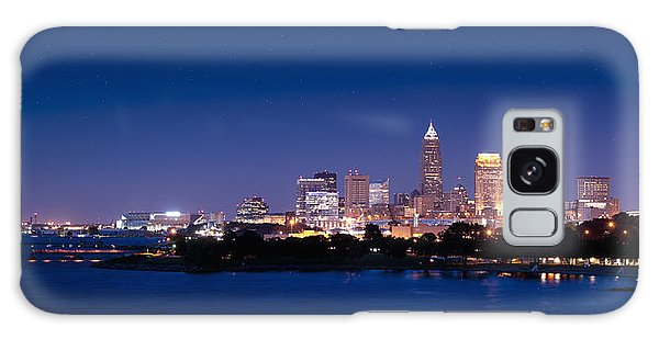 Cleveland Skyline Dusk Galaxy Case