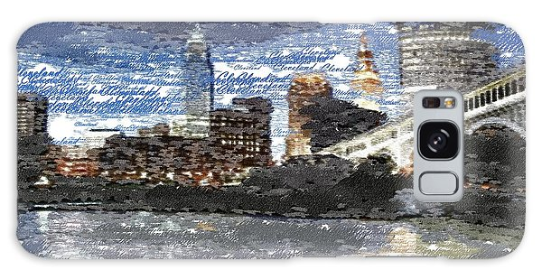Cleveland Skyline - Typography Galaxy Case