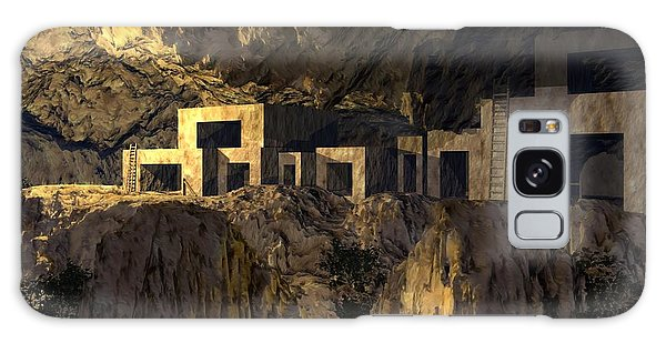 Cliff Dwellers Galaxy Case by John Pangia