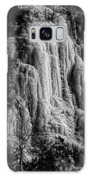 Cliff Ice In Black And White Galaxy Case