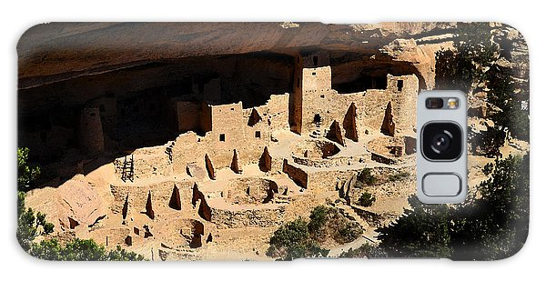 Cliff Palace At Mesa Verde National Park Anasazi Ruin Watercolor Digital Art Galaxy Case