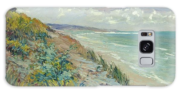 Beach Galaxy S8 Case - Cliffs By The Sea At Trouville  by Gustave Caillebotte