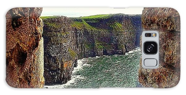 Cliffs Of Moher From O'brien's Tower Galaxy Case by Tara Potts