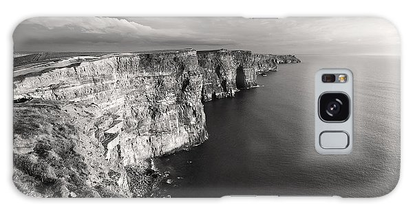 Cliffs Of Moher Ireland In Black And White Galaxy Case