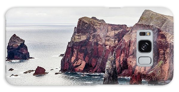 Sea Stacks Galaxy Case - Cliffs Of Ponta De Sao Lourenco by Dr Juerg Alean