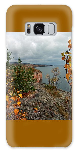 Cliffside Fall Splendor Galaxy Case by James Peterson