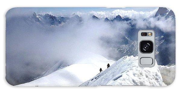 Climbing To The Aiguille Du Midi Galaxy Case