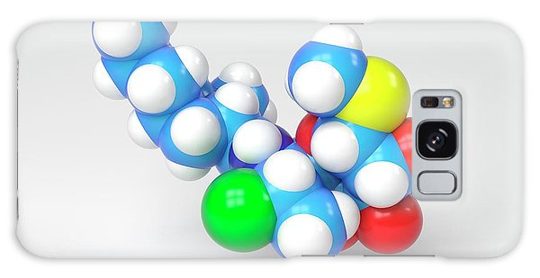 Synthesis Galaxy Case - Clindamycin Antibiotic Molecule by Indigo Molecular Images