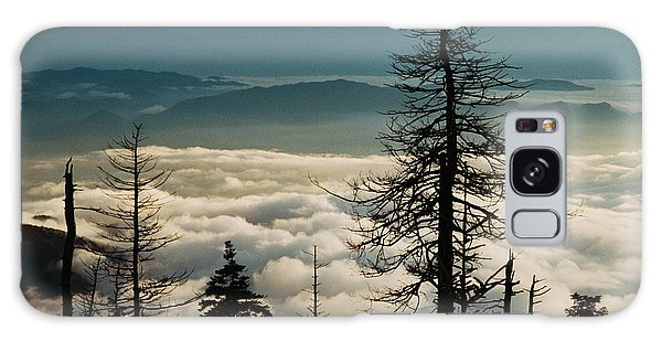 Clingman's Dome Sea Of Clouds - Smoky Mountains Galaxy Case by Mountains to the Sea Photo