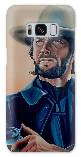 Eagle Galaxy S8 Case - Clint Eastwood Painting by Paul Meijering