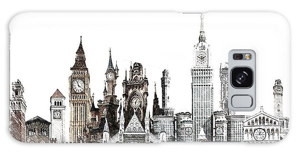 Clock City Sketch Galaxy Case