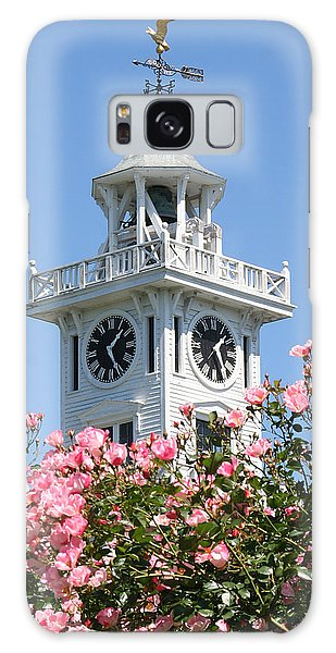 Clock Tower And Roses Galaxy Case