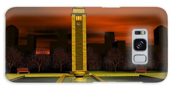 Clock Tower Galaxy Case by John Pangia