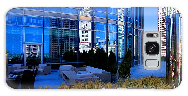 Clock Tower Reflection Galaxy Case