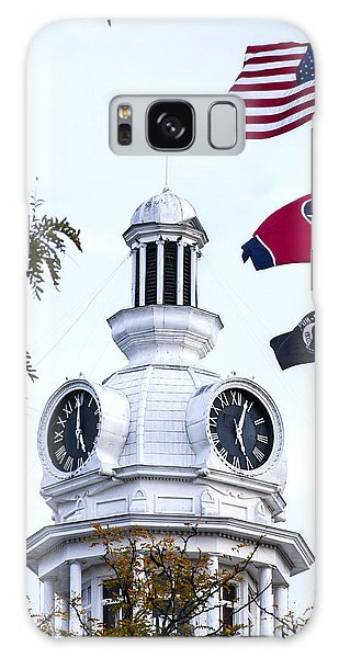 Clock Tower With Tennessee Mia Us Flag Art Galaxy Case