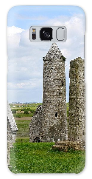Clonmacnoise Towers Galaxy Case by Suzanne Oesterling