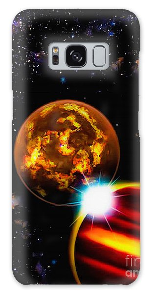 Close Together Far Apart Galaxy Case by Naomi Burgess