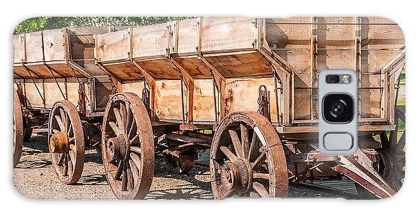 Close-up Of Grain Wagons Galaxy Case