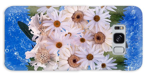 Mottled Galaxy Case - Close Up Of White Daisy Bouquet by Panoramic Images