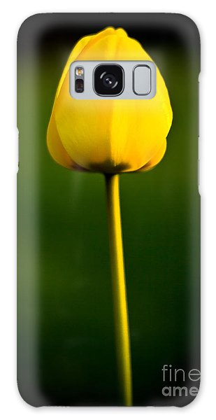 Closed Yellow Flower Galaxy Case