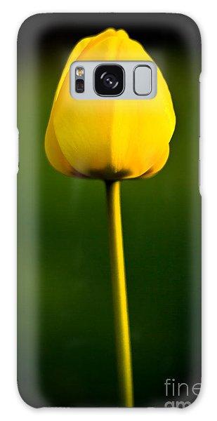 Closed Yellow Flower Galaxy Case