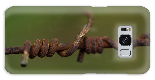 Rusty Chain Galaxy Case - Closeup Of A Connection On A Rusty Wire by Sebastian Kujas
