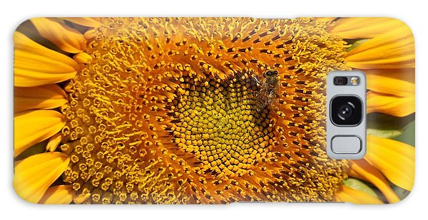 Closeup Of A Radiant Sunflower Galaxy Case by Yali Shi