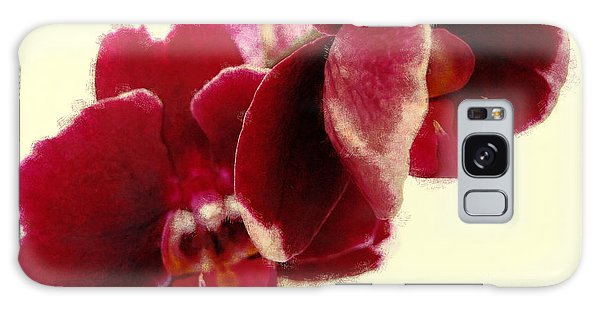 Closeup Of Flowering Burgundy Orchid Galaxy Case