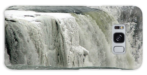 Closeup Of Icy Niagara Falls Galaxy Case