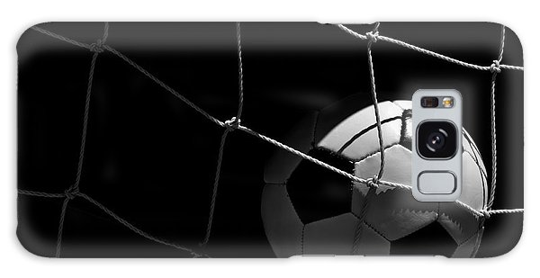 Closeup Of Soccer Ball In Goal Galaxy Case