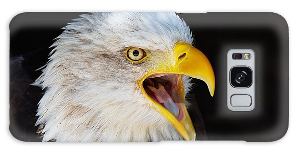 Closeup Portrait Of A Screaming American Bald Eagle Galaxy Case