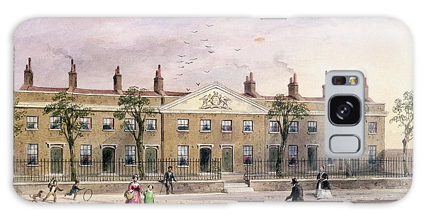 Alms Galaxy Case - Clothworkers Almhouses In Frog Lane Wc On Paper by Thomas Hosmer Shepherd