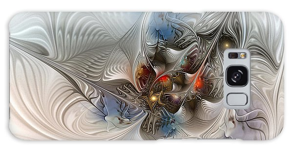 Cloud Cuckoo Land-fractal Art Galaxy Case by Karin Kuhlmann