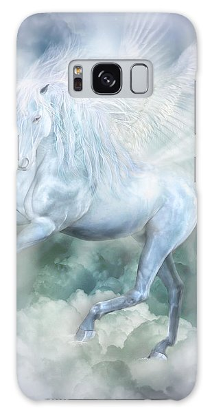 Galaxy Case featuring the mixed media Unicorn Cloud Dancer by Carol Cavalaris
