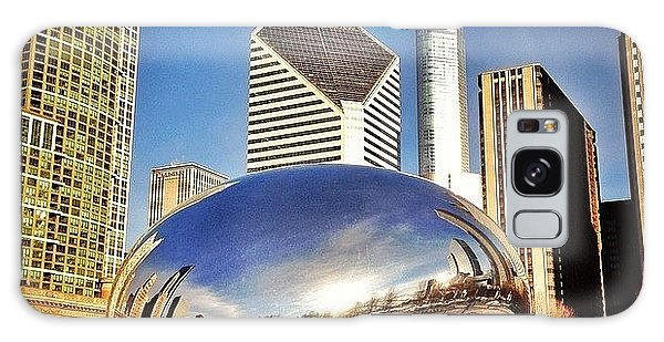 Colorful Galaxy Case - Cloud Gate chicago Bean Sculpture by Paul Velgos