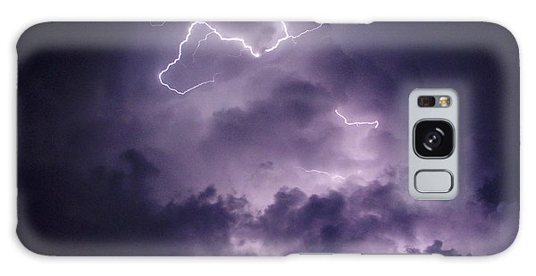 Cloud Lightning Galaxy Case by James Peterson